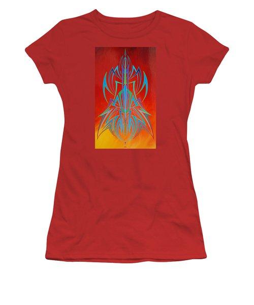 Desert Fire Storm Women's T-Shirt (Junior Cut) by Alan Johnson
