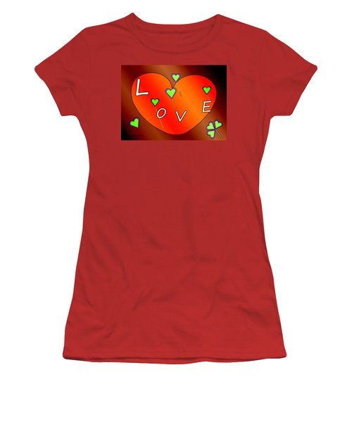 Simple  Love  Heart  - 505  Women's T-Shirt (Athletic Fit)