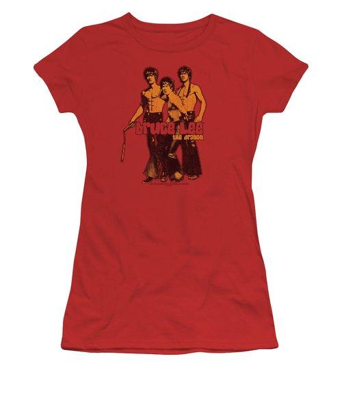 Bruce Lee - Nunchucks Women's T-Shirt (Athletic Fit)