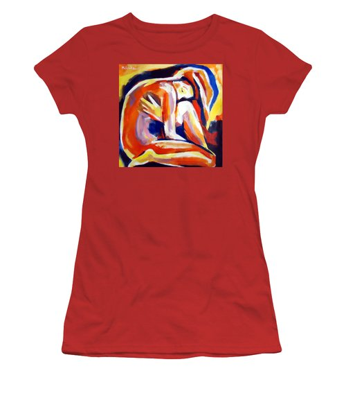 Women's T-Shirt (Junior Cut) featuring the painting Innerthoughts by Helena Wierzbicki