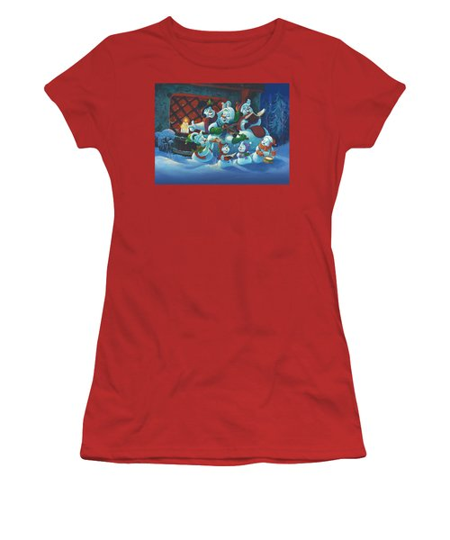 Women's T-Shirt (Junior Cut) featuring the painting Joy To The World by Michael Humphries