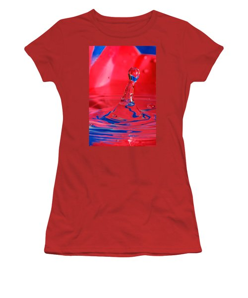 Women's T-Shirt (Junior Cut) featuring the photograph Rainbow Drop by Peter Lakomy