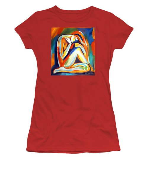 Women's T-Shirt (Junior Cut) featuring the painting Solitude by Helena Wierzbicki