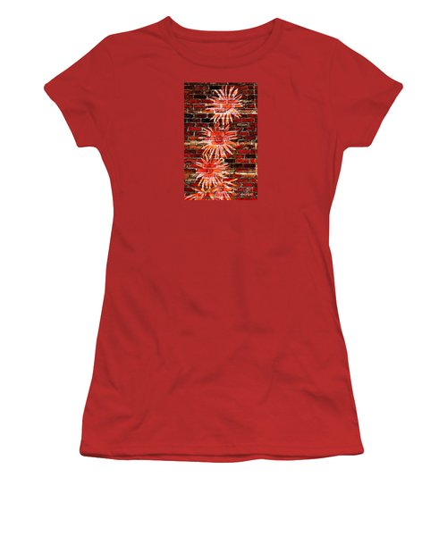 Gerberas On A Wall 1 Women's T-Shirt (Athletic Fit)