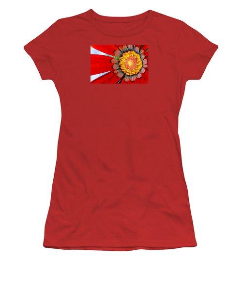 Zinnia In Red Women's T-Shirt (Junior Cut) by Wendy Wilton