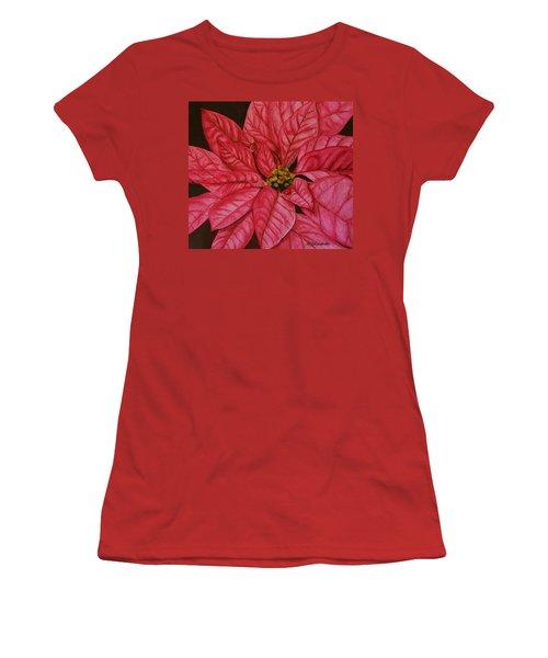 Poinsettia Women's T-Shirt (Athletic Fit)