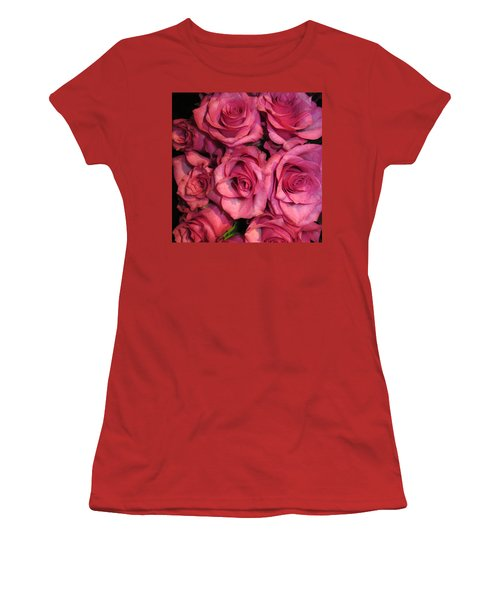 Rosebouquet In Pink Women's T-Shirt (Athletic Fit)