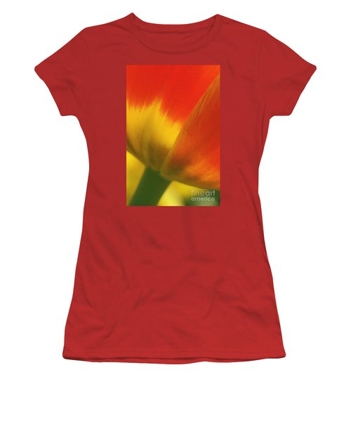 Tulip Close Up 2 Women's T-Shirt (Junior Cut) by Rudi Prott