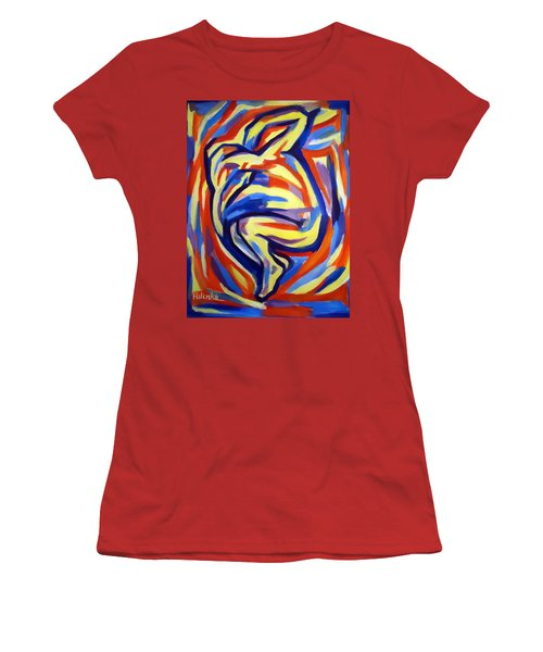 Women's T-Shirt (Junior Cut) featuring the painting Here by Helena Wierzbicki