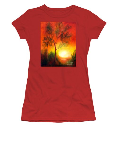 Women's T-Shirt (Junior Cut) featuring the painting A New Day by Alison Caltrider