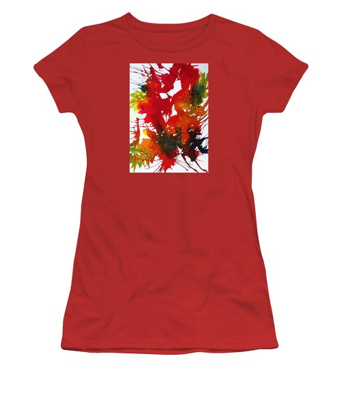 Abstract - Riot Of Fall Color II - Autumn Women's T-Shirt (Junior Cut) by Ellen Levinson