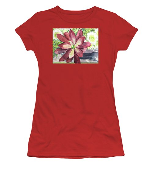 Women's T-Shirt (Junior Cut) featuring the painting African Flower by Carol Flagg