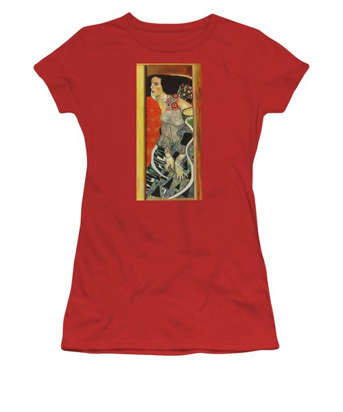 Women's T-Shirt (Junior Cut) featuring the painting After Gustav Klimt by Sylvia Kula