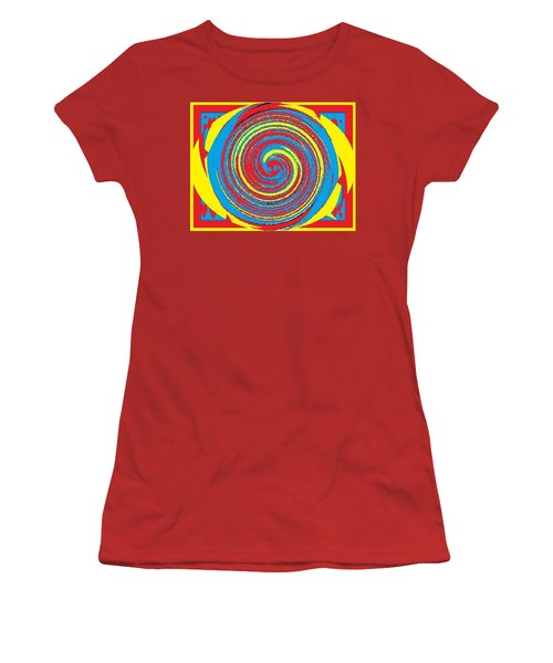 Aimee Boo Swirled Women's T-Shirt (Junior Cut) by Catherine Lott