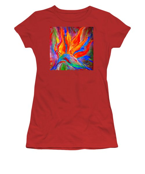 Bird Of Paradise Flower Women's T-Shirt (Athletic Fit)