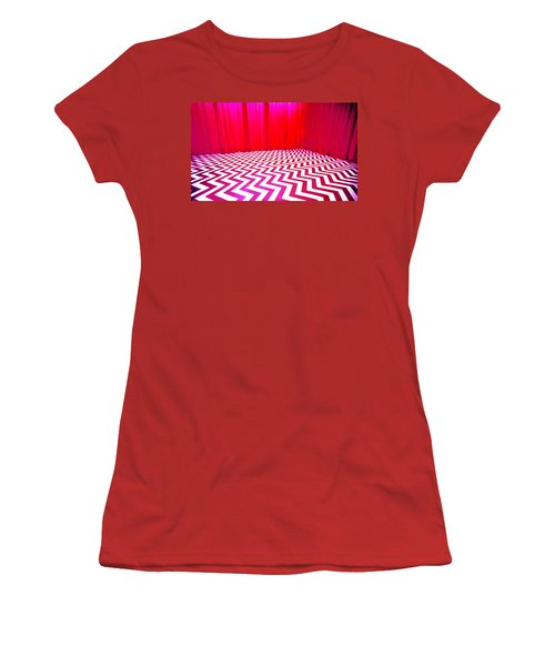 Black Lodge Magenta Women's T-Shirt (Athletic Fit)