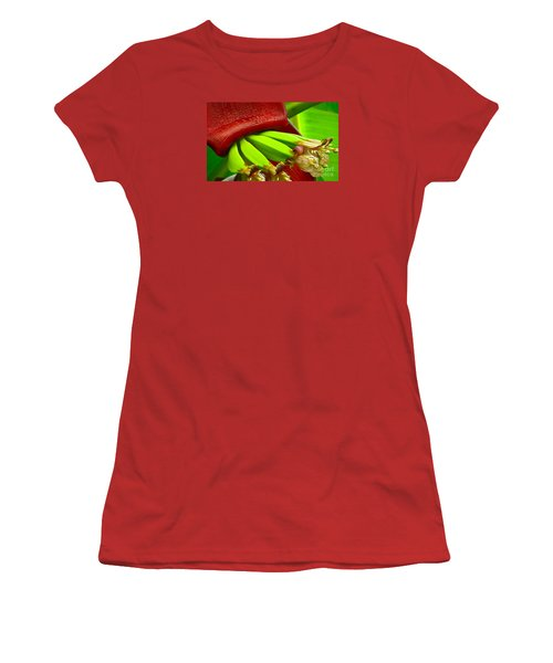 Women's T-Shirt (Junior Cut) featuring the photograph Blooming Bananas by Joy Hardee