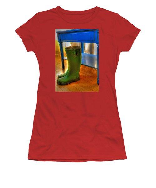 Boots Women's T-Shirt (Junior Cut) by Mark Alder