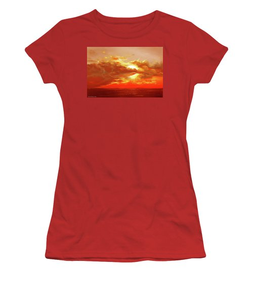 Bound Of Glory - Red Sunset  Women's T-Shirt (Athletic Fit)