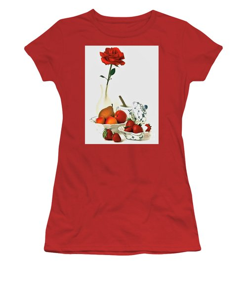 Breakfast For Lovers Women's T-Shirt (Junior Cut) by Elf Evans