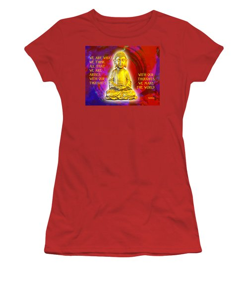 Women's T-Shirt (Junior Cut) featuring the photograph Buddha's Thoughts 2 by Ginny Gaura