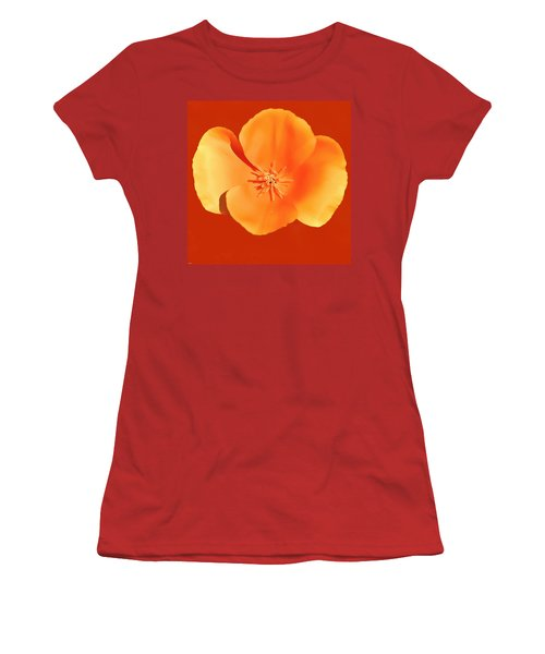California Poppy Painting Women's T-Shirt (Athletic Fit)