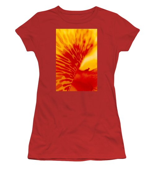 Women's T-Shirt (Junior Cut) featuring the photograph Canna Lilly by Michael Hoard