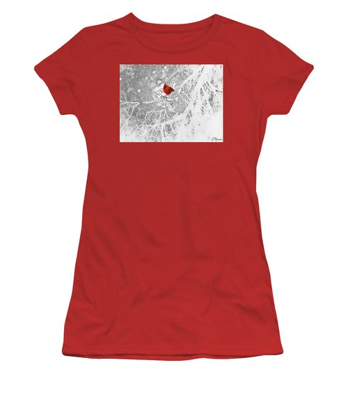 Cardinal In Winter Women's T-Shirt (Athletic Fit)