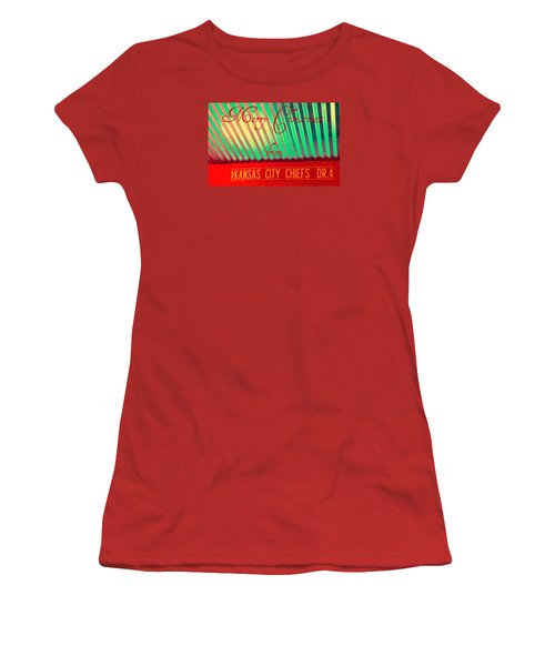 Chiefs Christmas Women's T-Shirt (Junior Cut) by Chris Berry