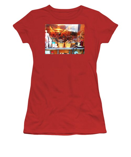 Women's T-Shirt (Junior Cut) featuring the photograph Chinatown Nyc Herb Shop by Joan Reese