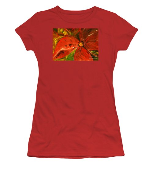 Women's T-Shirt (Junior Cut) featuring the painting Christmas Star by Jasna Dragun