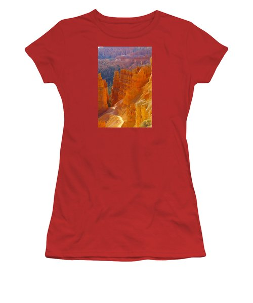 climbing out of the Canyon Women's T-Shirt (Junior Cut) by Jeff Swan
