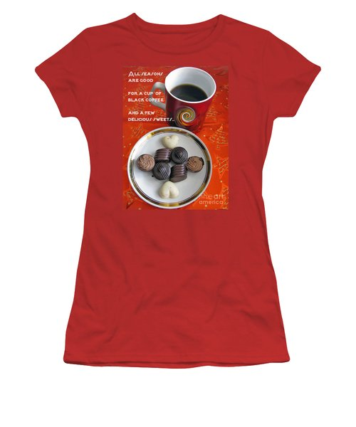 Women's T-Shirt (Junior Cut) featuring the photograph Coffee Season by Ausra Huntington nee Paulauskaite