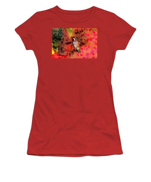 Colorful Hummingbird Women's T-Shirt (Athletic Fit)