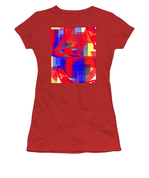 Women's T-Shirt (Junior Cut) featuring the digital art Copter Sunrise by Stephanie Grant