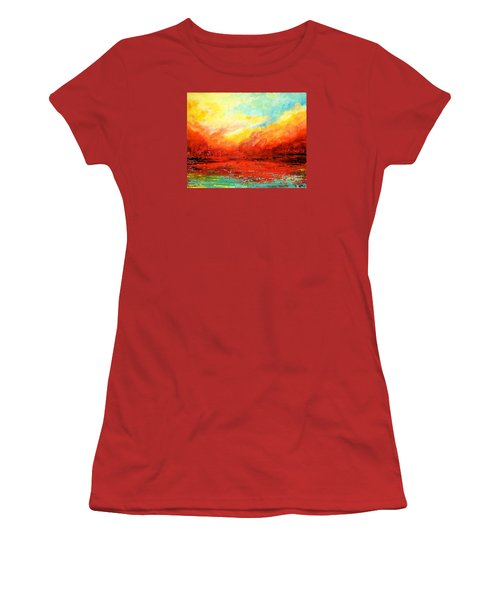 Crimson No.2 Women's T-Shirt (Athletic Fit)