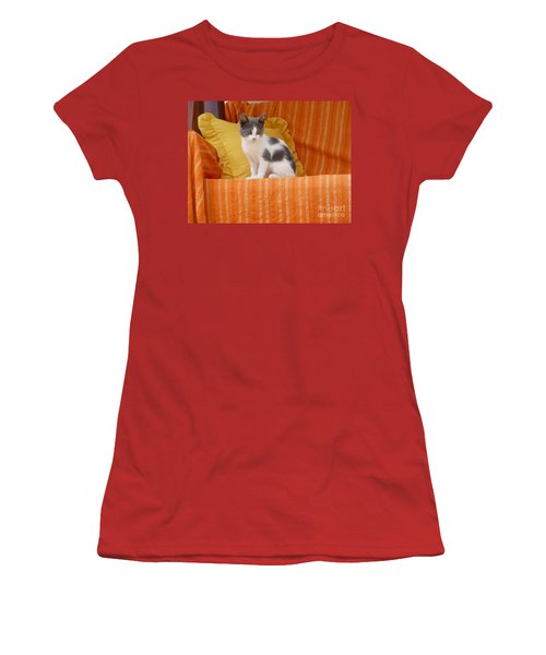 Cute Kitty Women's T-Shirt (Junior Cut) by Vicki Spindler