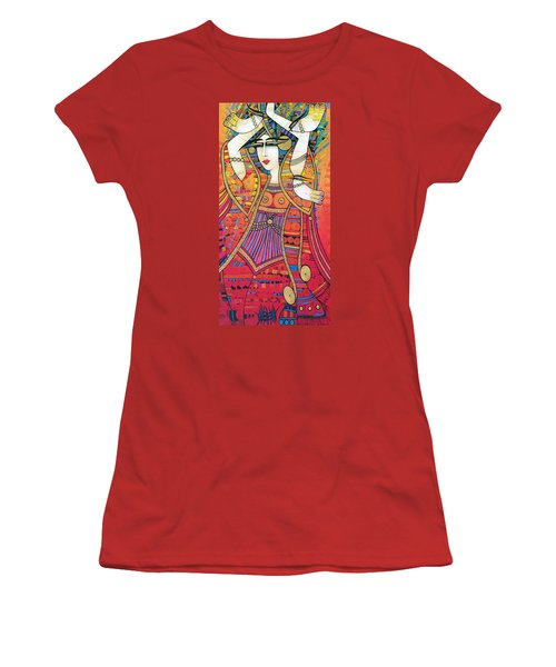 Dancer With Doves Women's T-Shirt (Athletic Fit)