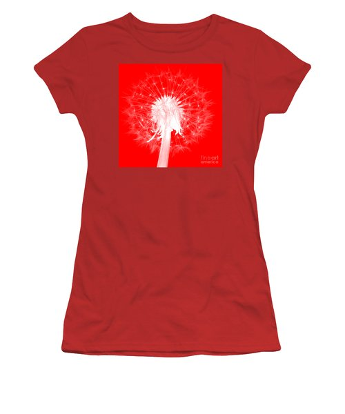 Women's T-Shirt (Athletic Fit) featuring the digital art Dandylion Red by Clayton Bruster