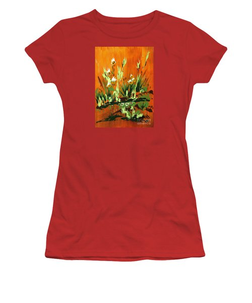 Women's T-Shirt (Junior Cut) featuring the painting Darlinettas by Holly Carmichael