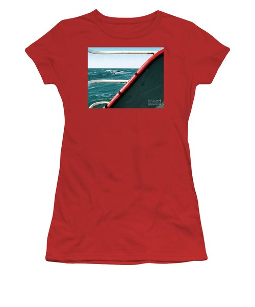 Women's T-Shirt (Junior Cut) featuring the photograph Deep Blue Sea Of The Gulf Of Mexico Off The Coast Of Louisiana Louisiana by Michael Hoard