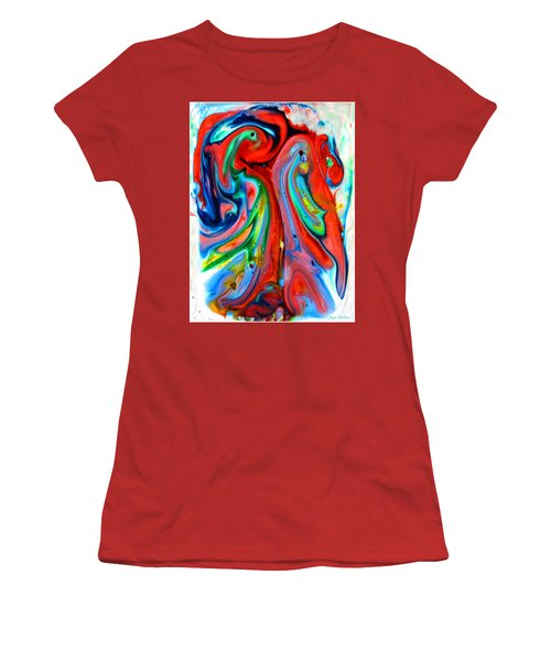 Women's T-Shirt (Junior Cut) featuring the painting Dont Worry  Be Happy by Joyce Dickens