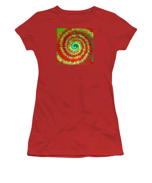 Women's T-Shirt (Junior Cut) featuring the painting Double Spiral  C2014 by Paul Ashby