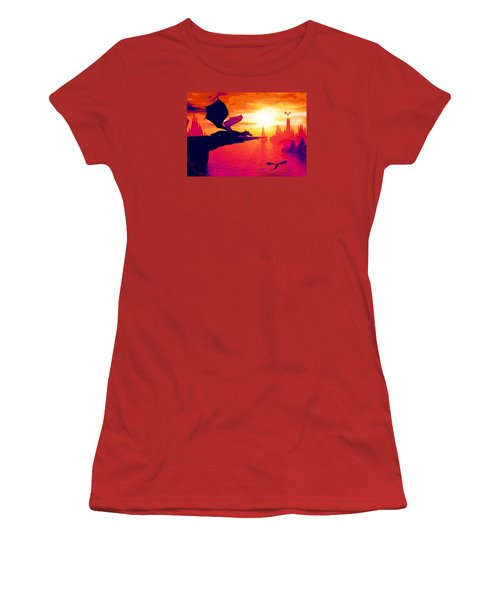 Awesome Dragon Women's T-Shirt (Junior Cut) by David Mckinney