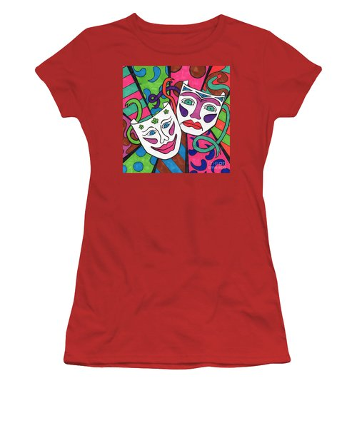 Drama Masks Women's T-Shirt (Athletic Fit)