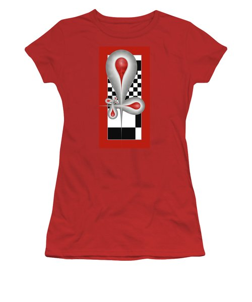 Drops On A Chess Board Women's T-Shirt (Junior Cut) by Gabiw Art