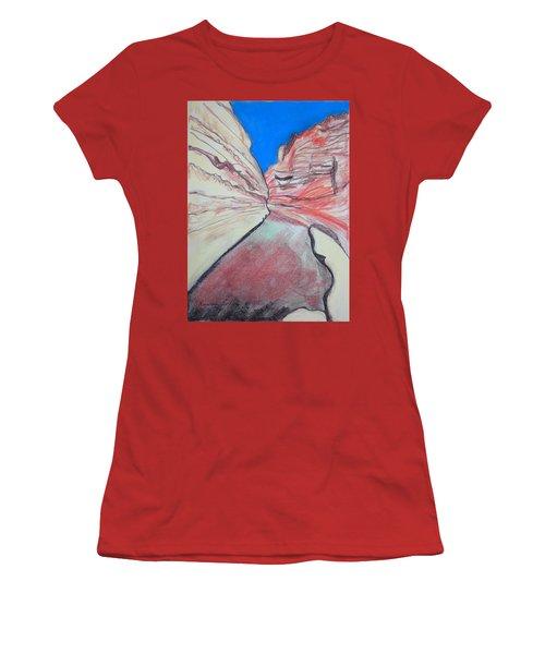 Ein Avdat  Women's T-Shirt (Junior Cut) by Esther Newman-Cohen
