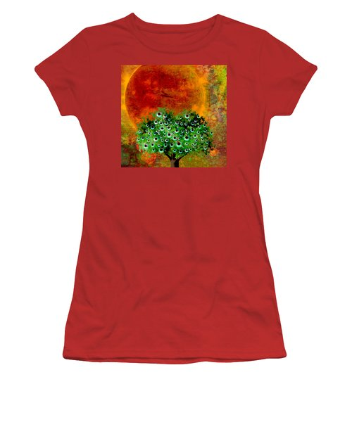 Eye Like Apples Women's T-Shirt (Junior Cut) by Ally  White