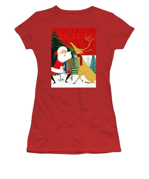 Women's T-Shirt (Junior Cut) featuring the painting Falalalalah by Michael Humphries
