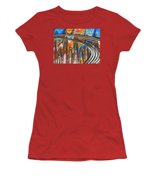 Women's T-Shirt (Junior Cut) featuring the digital art Highway To Nowhere Abstract by Gabriella Weninger - David